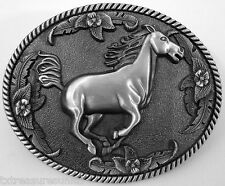 BELT BUCKLES western casual dress rodeo accessories RUNNING HORSE buckle NWOT!