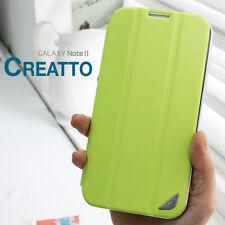 FENICE CREATTO Samsung Galaxy Note II Premium Italian PU Leather Case - Green