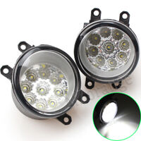 Pair LED Front Fog Light Lamp For Toyota Rav4 Tarago Tundra Yaris Venza Solara