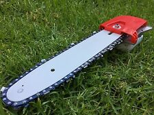 """9T CHAINSAW/POLE SAW HEAD REPLACEMENT W/12""""BAR+2CHAIN BRUSHCUTTER CHAIN SAW"""