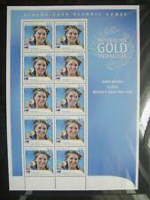 Australia 2004. Athens Olympics. Anna Meares Sheet Mint.