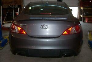 09-16 Hyundai Genesis Coupe Exterior Rear Trunk Lid W/ HINGES W/ SPOILER 3K OEM