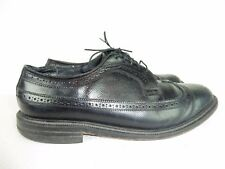 EXECUTIVE IMPERIALS Men's Black Leather Wingtip Dress Oxford Sz 10 3E Wide