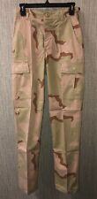 Mens Beige Camouflage Military Pants Size XS Long