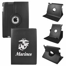 Apple iPad Mini 1/2/3 Generation Black Rotating Sleeve Case Tablet Cover Marines
