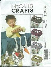 M 5124 sewing pattern Baby's GROCERY CART LINER sew TOYS Donut Carrot Strawberry