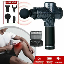 Electric Massage Gun Massagepistole Massager Muscle Massagegerät mit 4 Köpfe LCD