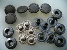 Press stud, Ex Barbour, Male & Female sides, 15mm dia. Quantity of 5 (five).