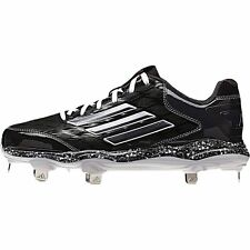 New Womens adidas PowerAlley 2 Low Metal Cleats Size 8 Black/Carbon MSRP $75