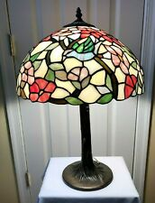 """Tiffany Style Handcrafted Multi Colored Blue Bird 23"""" Table Lamp Light"""