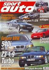 sport auto 7/97 Hartge BMW 540i/MK BMW Z3 1.9 Turbo/McLaren F1 GTR/Corvette/1997