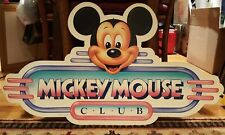 Disney Mickey Mouse Club Cardboard Sign Display double sided Large
