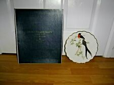 """Royal Worcester.Birds Of Dorothy Doughty Plate """"Paradise Wydah"""" ~ Boxed"""