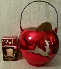 Reindeer Luminary.  Safe-T Candle Included