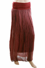 Silk Blend Hand-wash Only Long Skirts for Women