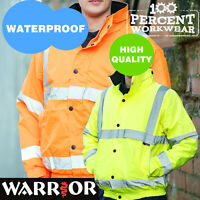 Pro Quality High Visibility Waterproof Bomber Jacket Work Safety Coat Hi Viz Vis