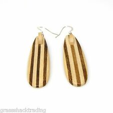 WOOD SURFBOARD SUP STAND UP PADDLE BOARD Sterling Silver Earrings Ear Wires