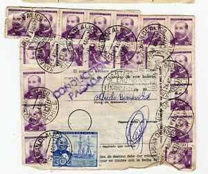 CHILE 1967 parcel post small town cancel SAN FABIAN DE ALICO