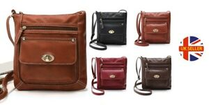 Elegant Leather Women's Multifunction Cross-body Bag Purse With Clasp