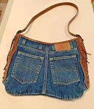 Vintage Style Lucky Brand Denim Shoulder Purse EUC