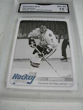PHIL ESPOSITO BRUINS 2012 UPPER DECK HOCKEY HEROES 1970'S # HH36 GRADED 10  L@@K