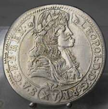 PRACHTSTÜCK!! 15 Kreuzer 1686 KB, Leopold I., Kremnitz, Silber, Ungarn