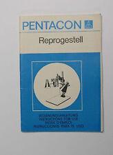 NOTICE D'EMPLOI POUR PENTACON REPROGESTELL EN 4 LANGUES DONT LE FRANCAIS 28 PAGE