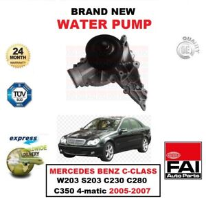 WATER PUMP for MERCEDES BENZ C-CLASS W203 S203 C230 C280 C350 4-matic 2005-2007