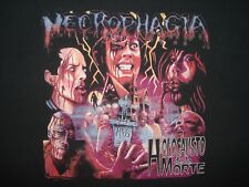 Vintage 90s NECROPHAGIA LONG SLEEVE T SHIRT Death Metal Holocausto de la morte L