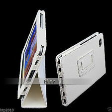 White Leather Case Stand Pouch for Samsung Galaxy Tab P6800 P6810 Tablet 7.7 AU