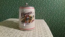 Olympia Beer Stein Ceramarte made in Brazil Vintage with lid