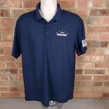 Jeep Heroes Drive Men's Polo Shirt Size Large Blue