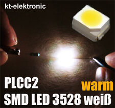 20 Stück SMD LED 3528 PLCC2 warm weiß / warm white SMDs