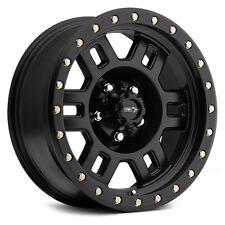 "(5) 17"" Vision Manx Matte Black Wheels Rims At Tires 5x5 5x127 Jeep Wrangler Jk"