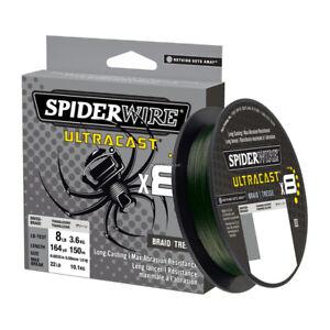 Spiderwire Ultracast Braid, Superline, 8lb test, 328yd,Ultimate Braid-Moss Green