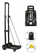 Folding Hand Truck, 70 Kg/155 lbs Heavy Duty 4-Wheel Solid Construction Utility