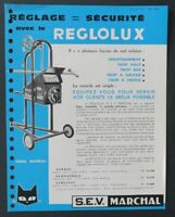 Brochure automobile MARCHAL REGLOLUX 1965 catalogue catalog dépliant
