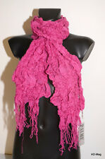 Vêtement Femme - écharpe élastique avec franges - PALME 35166 Rose - NEUF