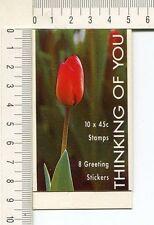 41246) Australia 1994 MNH QEII 45c (x10) Thinking Of You Booklet Flowers