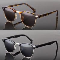 Polarized Anti Glare Sunglasses Women Men Vintage Designer Metal Half Frame