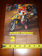 1980 SUZUKI RM250 - ORIGINAL ARTICLE RM 250