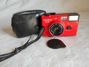 Konica pop 35mm compact camera red version