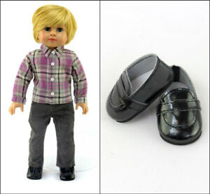 "18"" BOY DOLL 3-PC PANTS Plaid SHIRT SHOES OUTFIT American Girl Our Generation"