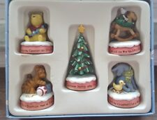 """Disney's Winnie the Pooh's """"FIRST LITTLE CHRISTMAS"""" Figurines (NEW)"""