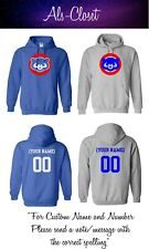 Chicago Cubs Logo Baseball Pullover Hooded Sweatshirt with Custom Name