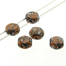 Tweedy Copper 30pc 6mm 2-Hole Czech Glass Honeycomb Beads