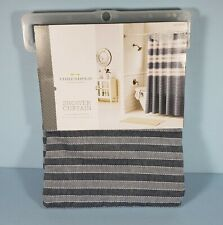 "Threshold Blue Seersucker Stripe Shower Curtain 72"" x 72"" Target NEW"