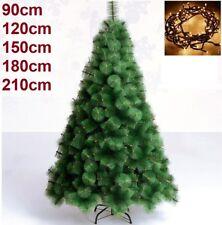 Arbol de navidad 90, 120, 150, 180, 210 cm pino verde clásico +LUZ LED 100 Luces