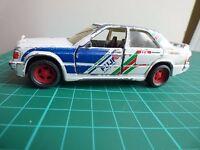 Matchbox Superkings Mercedes Benz 190E Fuji Racing VISA White DTM Toy Car Model