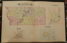 Missouri Andrew County Map Monroe Township 1909 Dbl side Dbl Pg J6#33